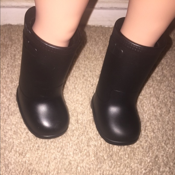 db8601a96fd6d All black American girl doll boots